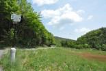 飯舘村曲田地区。 土壌からチェルノブイリ原発事故の強制移住区域を上回るレベルのセシウムが検出された。(25日、写真:筆者撮影)