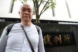 原告・前川宗廣さん、「多くの人が私の後に続いて原発を止める訴訟を起こしてほしい」。(27日、東京地裁前。写真:筆者撮影)