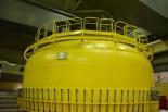 =原子炉建屋6階。 写真:田中撮影=