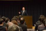 野田首相は空疎な弁舌に終始した。=16日午後5時、参院会館。写真:田中撮影=