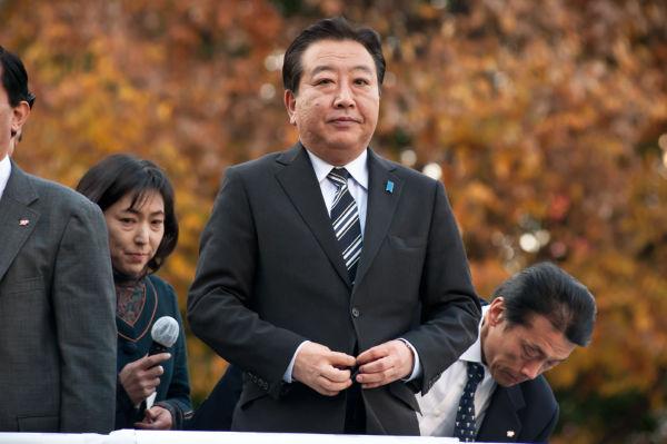 選挙で大惨敗は確実だからか。野田首相の目は虚ろだった。=写真:島崎ろでぃ撮影=
